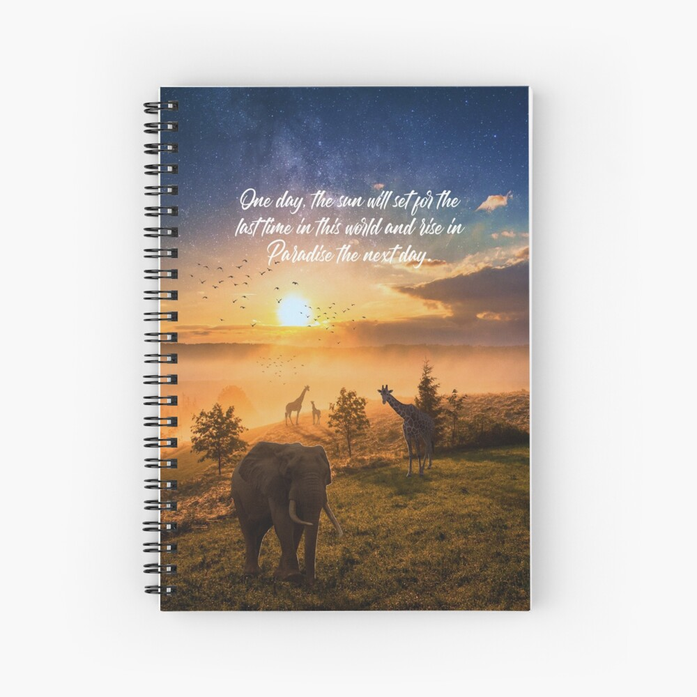 Sunrise In Paradise Spiral Notebook