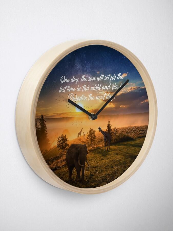 Alternate view of Sunrise In Paradise Clock