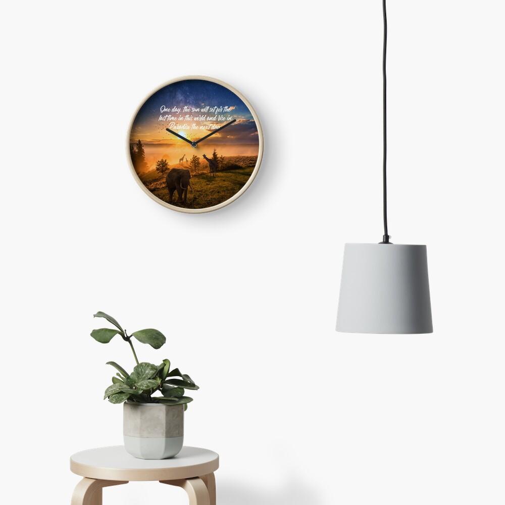 Sunrise In Paradise Clock