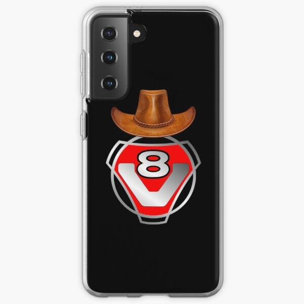 Chapeau de cowboy Scania V8 rouge Coque souple Samsung Galaxy