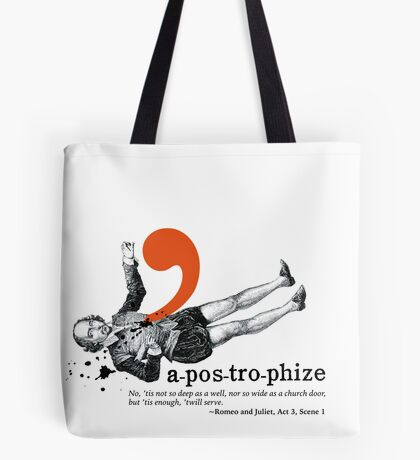 Shakespeare Murder Mystery Punctuation Puncture Tote Bag