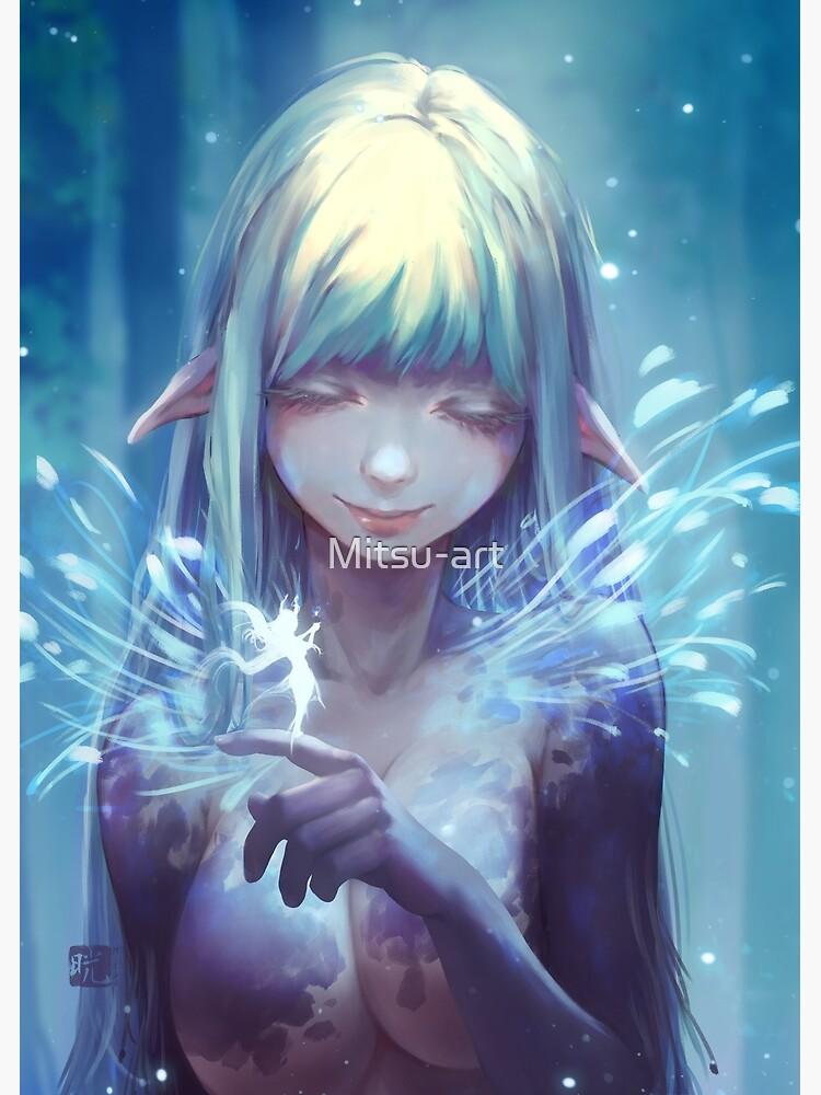 Aeyria speaks with fae by Mitsu-art
