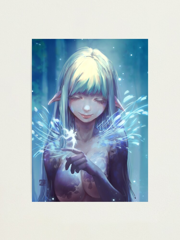 Alternate view of Aeyria speaks with fae Photographic Print