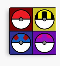 Pokeball minimalist Canvas Print