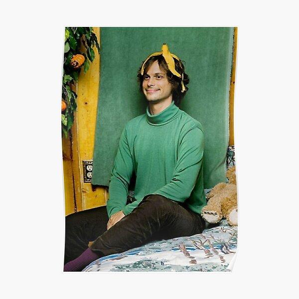 Matthew Gray Gubler Smiling with Banana Peel on His Head Poster