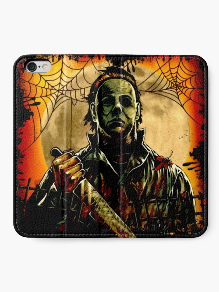 Alternate view of Horror Mashups: A Real Man  iPhone Wallet