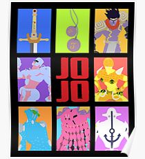JoJo's Bizarre Adventure - Weapons & Stands Poster