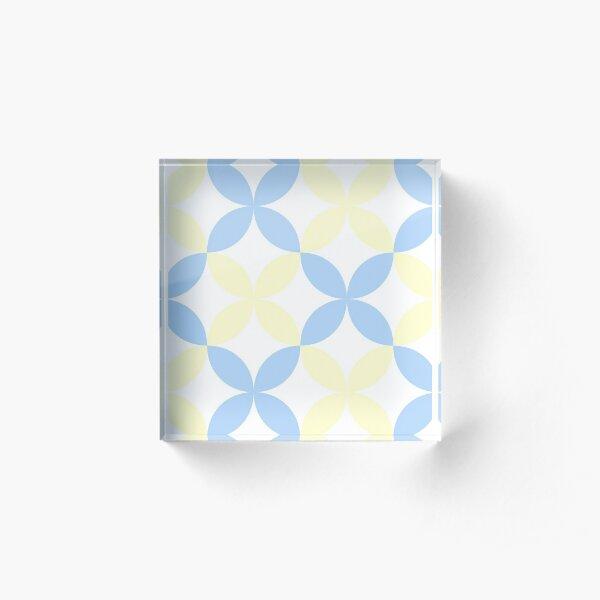 yellow and blue patterns Acrylic Block