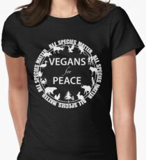 Vegans for Peace 4 Women's Fitted T-Shirt