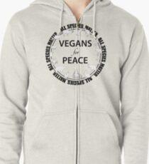 Vegans for Peace 3 Zipped Hoodie