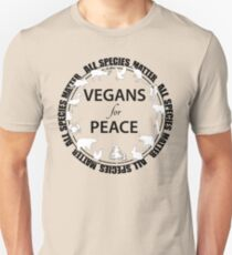 Vegans for Peace 3 Unisex T-Shirt