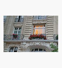 Parisian Windows and Flowers Photographic Print