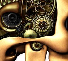 Vintage Steampunk Automaton Skull #1B Sticker