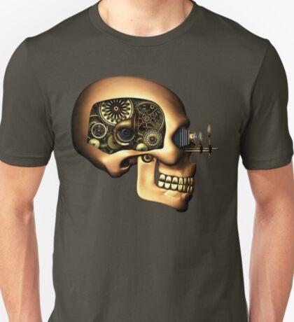 Vintage Steampunk Automaton Skull #1B T-Shirt