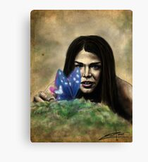 Octavia and the Butterfly (full color) Canvas Print