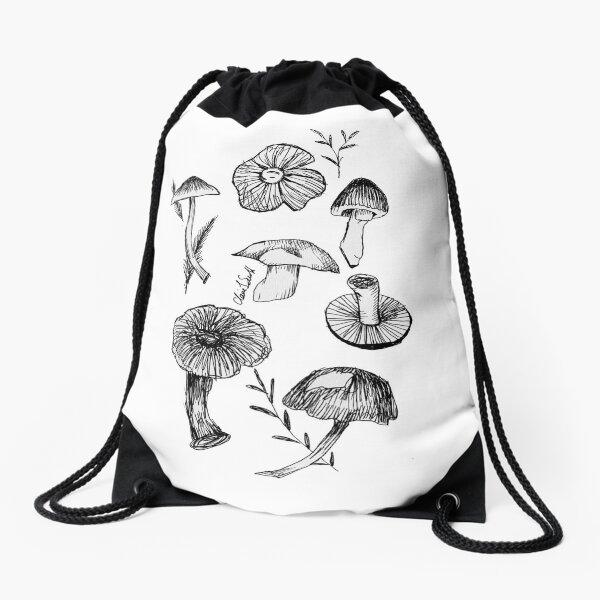 Mushrooms + Toadstools  Drawstring Bag