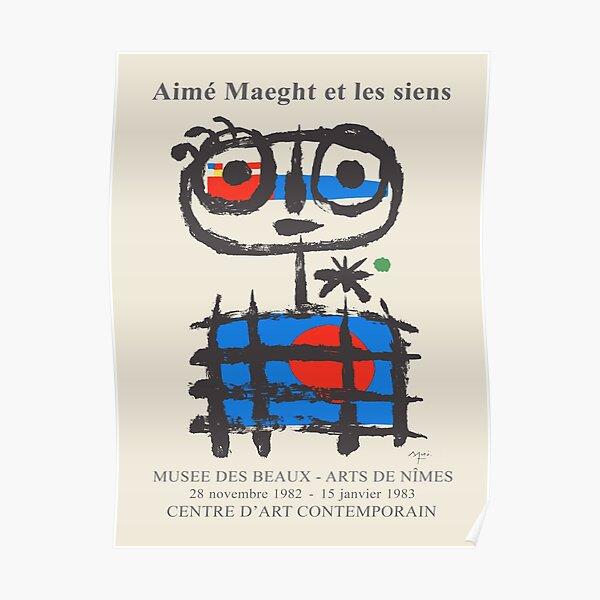 Joan Miro. Ausstellungsplakat für das Musee des Beaux-Arts in Nimes, 1982-1983. Poster