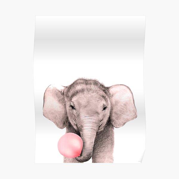 Elephant Bubble Gum Poster