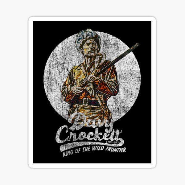 Davy Crockett High Quality Printed Vinyl Decal Car SUV Truck Auto HD Sticker Art