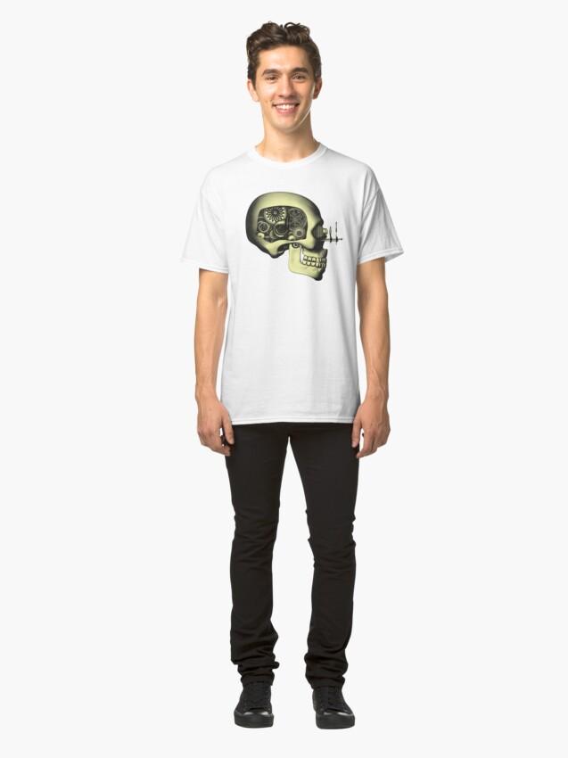 Alternate view of Vintage Steampunk Automaton Skull #1 Classic T-Shirt