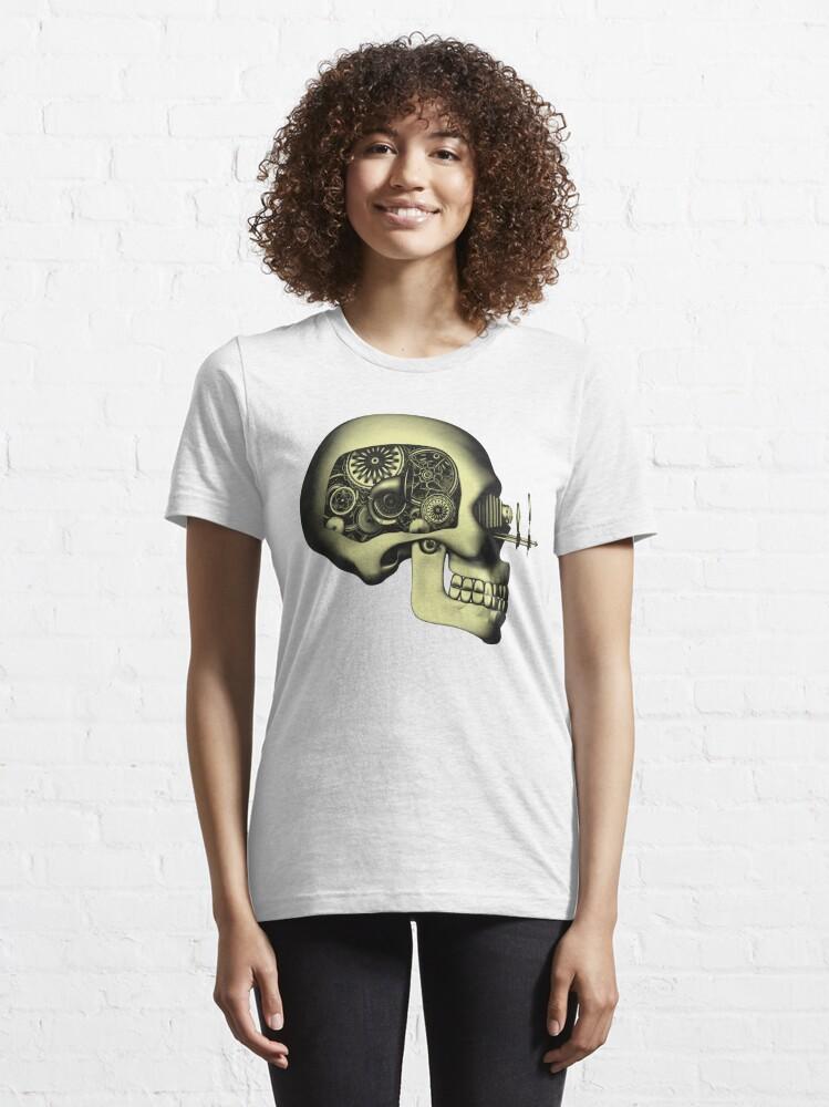 Alternate view of Vintage Steampunk Automaton Skull #1 Essential T-Shirt