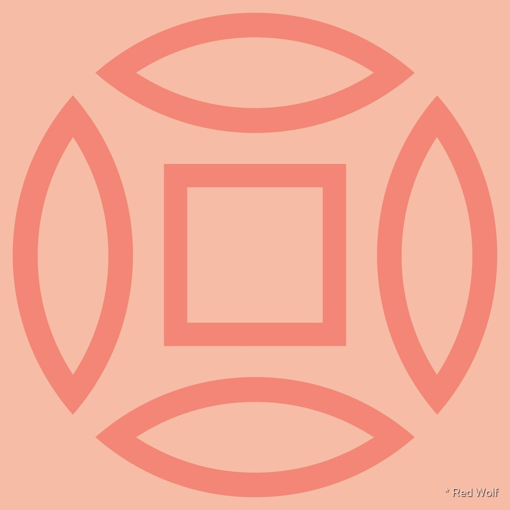 Geometric Pattern: Intersect Outline: Salmon by * Red Wolf