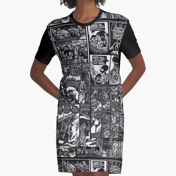 Comic book print [black] Graphic T-Shirt Dress