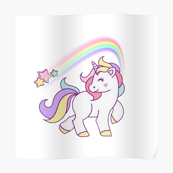 Unicorn I love Them Poster