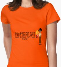 The I.T Crowd Fire Extinguisher Womens Fitted T-Shirt