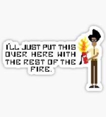 The I.T Crowd Fire Extinguisher Sticker