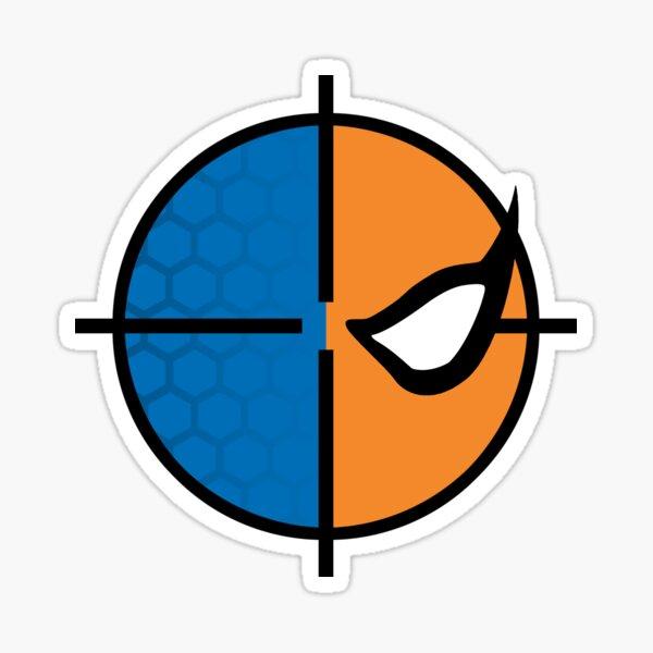 Deathstroke emblem, round Sticker