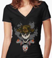 Marines Women's Fitted V-Neck T-Shirt