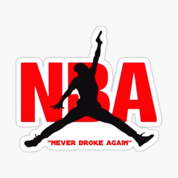 never broke again nba Sticker