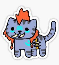 Neko Atsume Feral Druid 1 Sticker