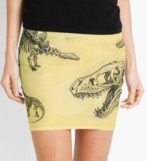 Sketched Dinosaur Bones Mini Skirt