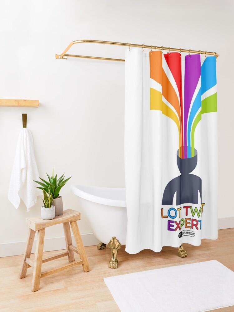 Vista alternativa de Cortina de ducha Plot Twist Expert