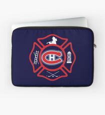 Securite Incendie de Montreal - style Canadiens Housse de laptop