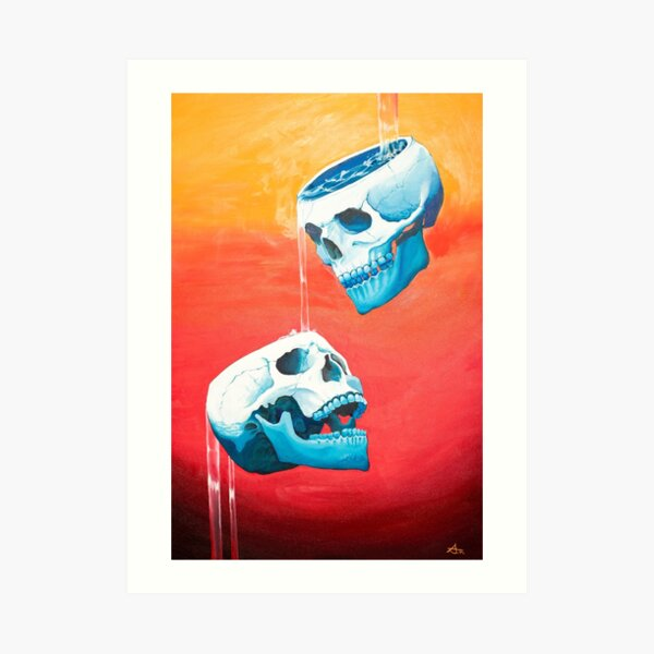Two of Cups - Original Painting Art Print