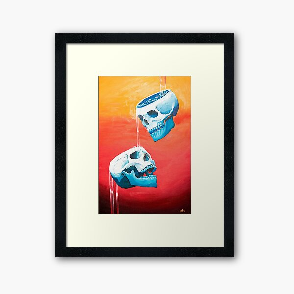 Two of Cups - Original Painting Framed Art Print