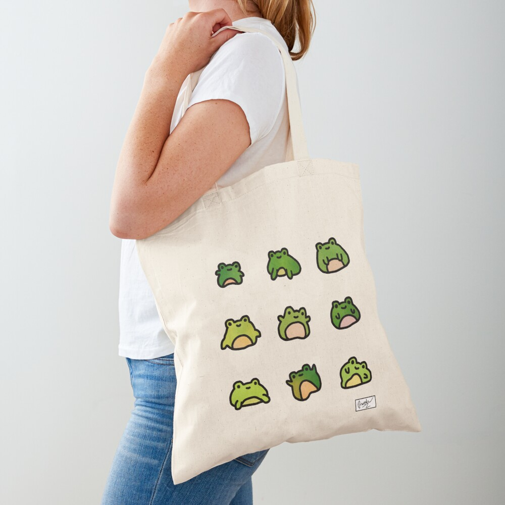 Frogs Doodle Tote Bag