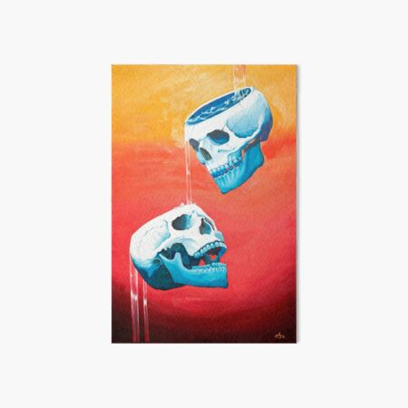 Two of Cups - Original Painting Art Board Print