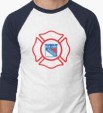 FDNY - Rangers style Men's Baseball ¾ T-Shirt