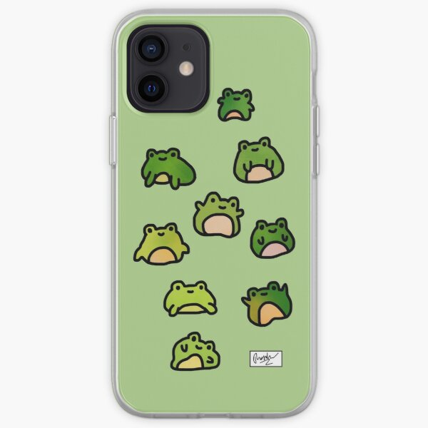Frogs Doodle iPhone Soft Case