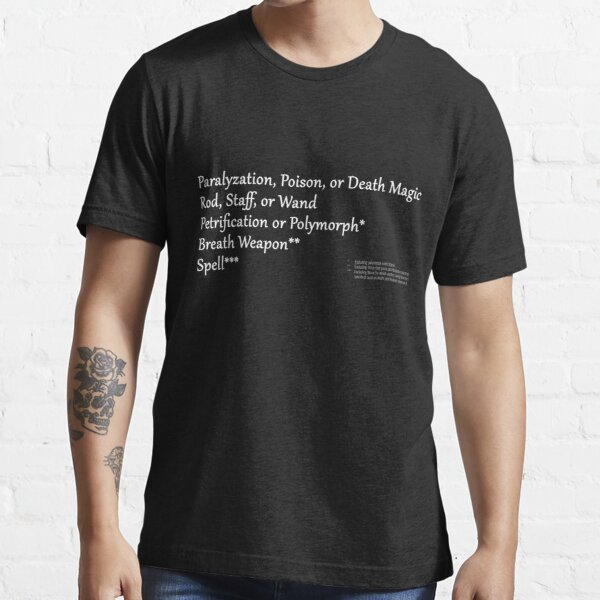 AD&D Saving Throws Essential T-Shirt