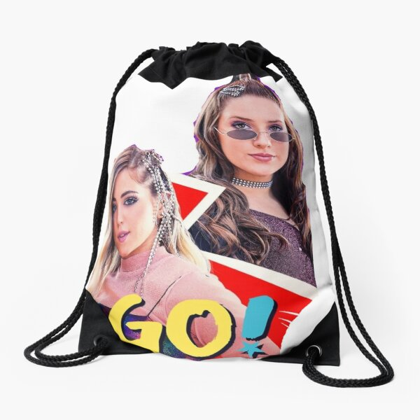 Lupe and Mia chase your dreams Drawstring Bag