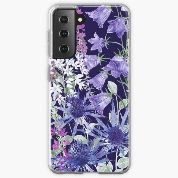 Sea Holly, Campanula, White Alliums & Purple Loosestrife Samsung Galaxy Soft Case