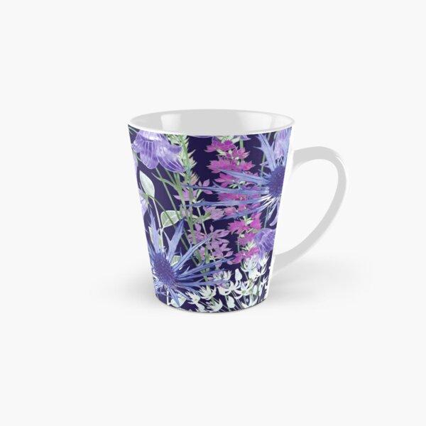 Sea Holly, Campanula, White Alliums & Purple Loosestrife Tall Mug