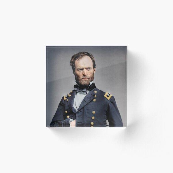 General William T. Sherman - Guerra civil Bloque acrílico