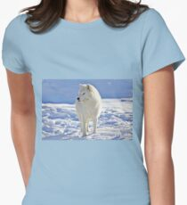 Arctic Wolf (Click and see large!) Women's Fitted T-Shirt