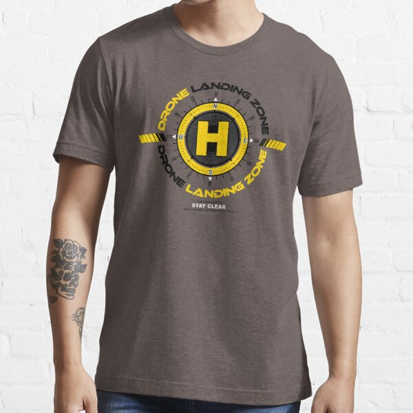 DRONE LANDING ZONE SIGN - DRONE OPERATOR, Drone ART - Limited Edition - Worldwide Print Essential T-Shirt